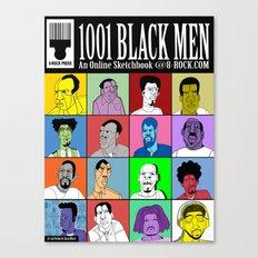 1001 Black Men: Alternative Press Expo Poster, 2012 Canvas Print