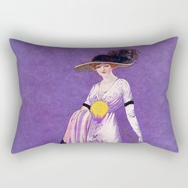 Vintage Lady from 1912 Rectangular Pillow