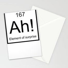 Ah The Element of Surprise T-Shirt Gift for Science Geek Short Sleeve Unisex T-Shirt Stationery Cards