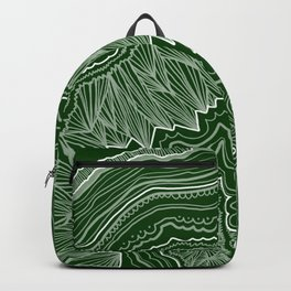 Forest Green Geode Backpack