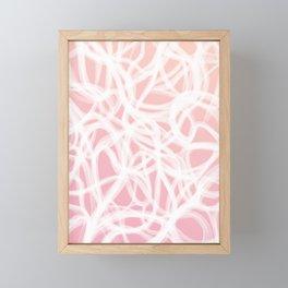 brushstrokes // pink & white Framed Mini Art Print
