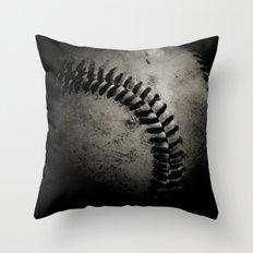 Baseball Dark Throw Pillow