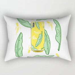 Mobile phone with yellow color and banana color Rectangular Pillow