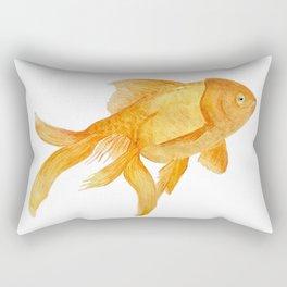 Curious Goldfish Rectangular Pillow