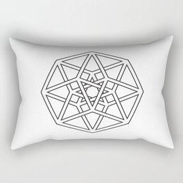 Hypercube Rectangular Pillow