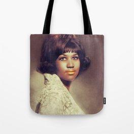 Aretha Franklin, Music Legend Tote Bag