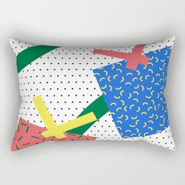 Memphis Christmas Presents Rectangular Pillow