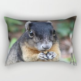 Black Squirrel Rectangular Pillow