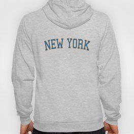 New York Sports College Font Hoody