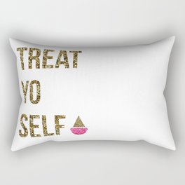 Treat Yo Self in Glitter Rectangular Pillow