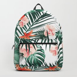 Tropical Flowers & Leaves Paradise #2 #tropical #decor #art #society6 Backpack