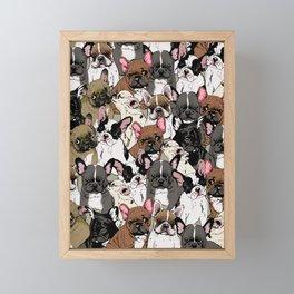 Social Frenchies Framed Mini Art Print