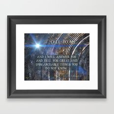 Call To Me Framed Art Print