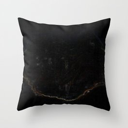 Psychedelic Black Tree of Life Throw Pillow