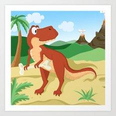 Tyrannosaurus T-Rex Art Print