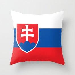 Slovakia Flag - Slovak Republic Flag Throw Pillow