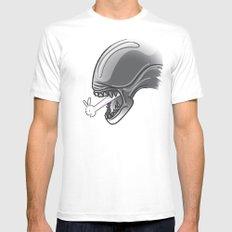 Alien?! MEDIUM Mens Fitted Tee White