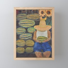 Watermelon Lady Framed Mini Art Print
