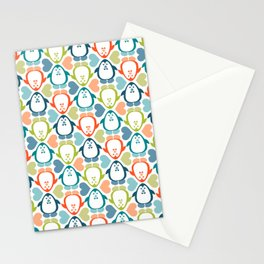 penguin love pattern 5 Stationery Cards