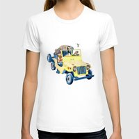 jeep T-shirts featuring Animal Jeep by Claire Sianna