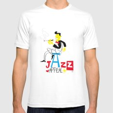 jazz appeal Mens Fitted Tee White MEDIUM