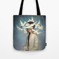 christian Tote Bags featuring The Beginning by Christian Schloe