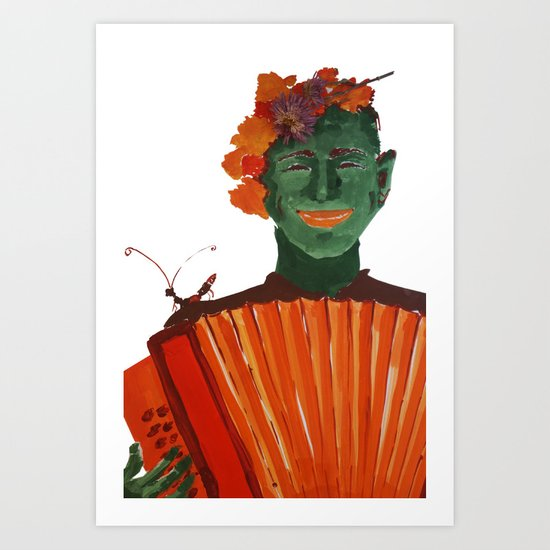 Фантомас с гармошкой Art Print
