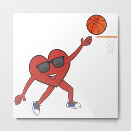 Basketball Heart Love Married Couples Metal Print