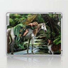 Sleeping Fairy on Unicorn Laptop & iPad Skin