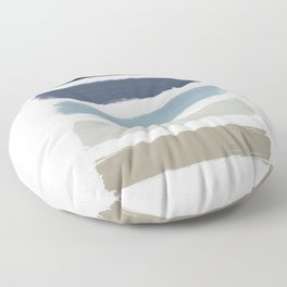 Blue & Taupe Stripes Floor Pillow