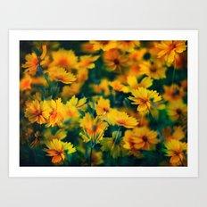 The Happy Colour Art Print