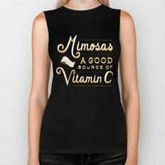 Mimosas = Vitamin C Biker Tank