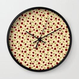 Rosas rojas Wall Clock