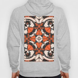 Geometric Orange And Black Abstract Hoody
