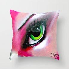 A Warm Woman Throw Pillow