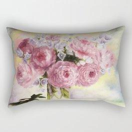 Pink Peons Rectangular Pillow