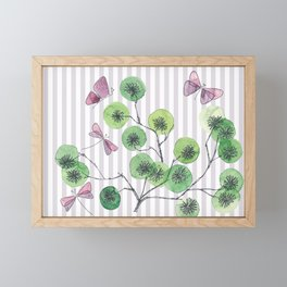 a touch of summer  with stripes Framed Mini Art Print