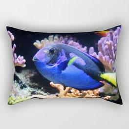 Blue Hippo Tang Rectangular Pillow
