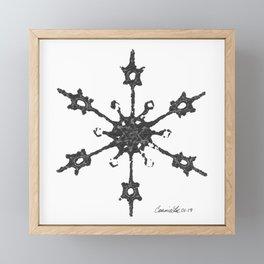Crochet Impressions: SNOWFLAKE Framed Mini Art Print