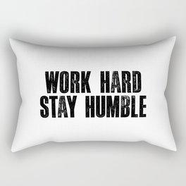 Work Hard Stay Humble Black and White Letterpress Poster Office Decor Tee Shirt Rectangular Pillow