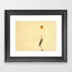 attempt to fly Framed Art Print