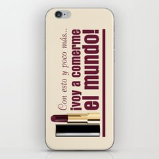 The World is yours! iPhone & iPod Skin