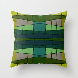 Green Pattern Turtle Throw Pillow