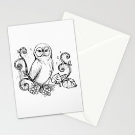 """""""The Wise Owl"""" Magical Woodland Animals series 4 The Original Artwork Stationery Cards"""