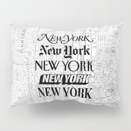 New York City black and white New York poster I love heart NYC Design black-white home wall decor Pillow Sham