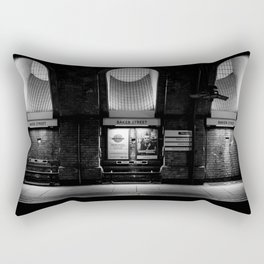 Alight here for Sherlock Holmes - Baker Street Tube Rectangular Pillow