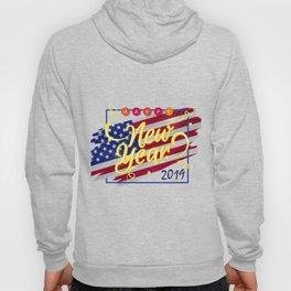 Flag America Happy New Year 2019 Vintage Hoody
