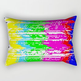 Broken TV Signal Rectangular Pillow