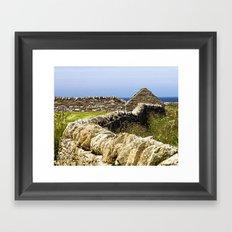 Dry Stone Dyke Framed Art Print