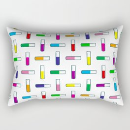 Test tube pattern Rectangular Pillow